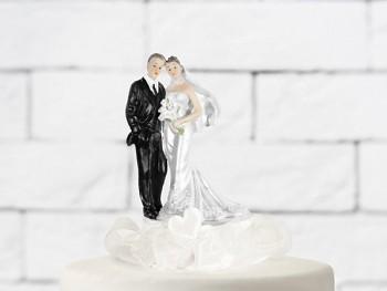 Svatební figurky ženich a nevěsta    krémová