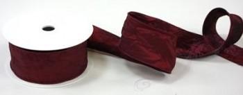 STUHA taft s drátkem bordó, šířka 5 cm, návin 10 m
