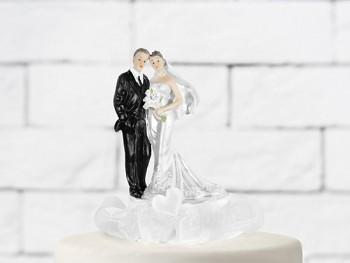 Svatební figurky Ženich a nevěsta    bílá