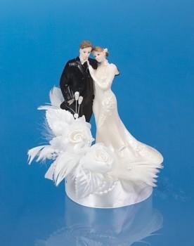 Svatební figurky Ženich a nevěsta    bílá A