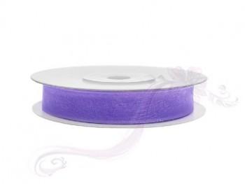Stuha šifon lila, šířka 0,6 cm, návin 25 m