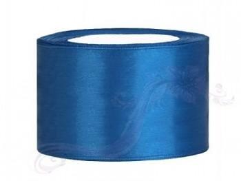 Saténová stuha  modrá, 38mm/25m