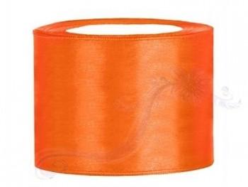 Saténová stuha oranžová 50mm/25m