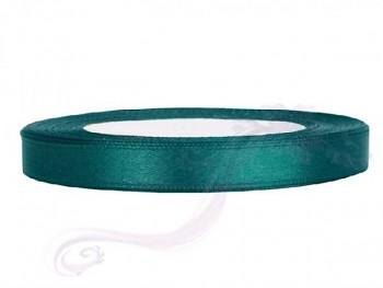 Saténová stuha, lahvově  zelená, 6mm/25m