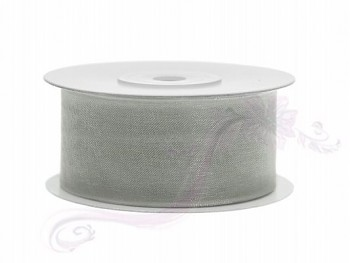 Stuha šifon šedá, šířka 3,8 cm, návin 25m