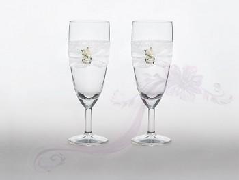 Svatební skleničky na šampus,2ks