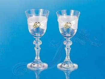 skleničky na vodku se zlatým dekorem