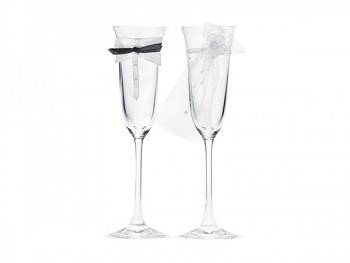 skleničky na šampaňské s motivem