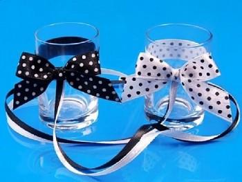 Svatební skleničky malé, puntík, 2ks