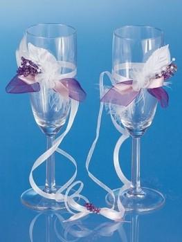 skleničky na šampaňské s aplikací