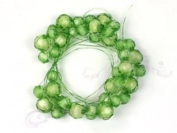 Perličková girlanda na drátku, zelená