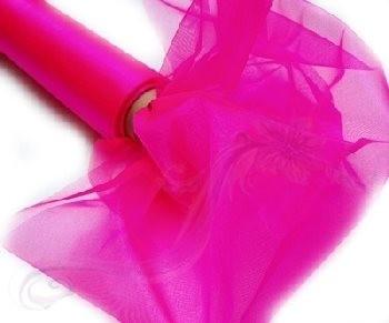 Krystal organza role 40 cm tmavě růžová