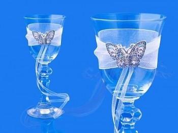 Skleničky na vodku s motýlem