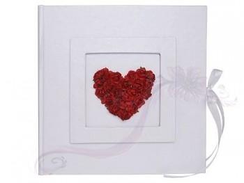 Svatební album s bordó růžemi