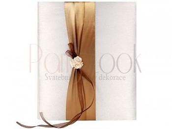 Svatební album s šampáňo kvítky