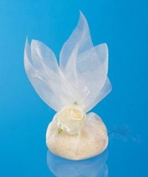 Sáček z organzy s rýží bílý