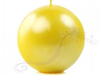 "Svíčka ""Koule"" 100mm metalická žlutá"
