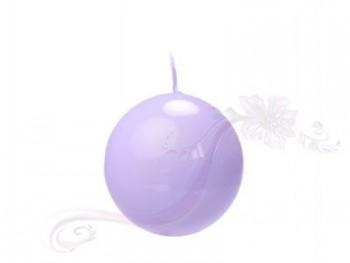 """Svíčka """"Koule"""" 45 mm, lakovaná lila"""