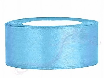 Saténová stuha světle modrá, 25mm/25m
