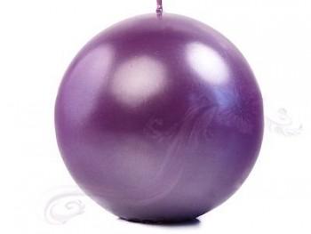 "Svíčka ""Koule"" 100mm metalická purpurová"