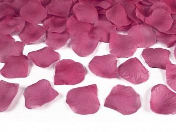Plátky růží, růžové