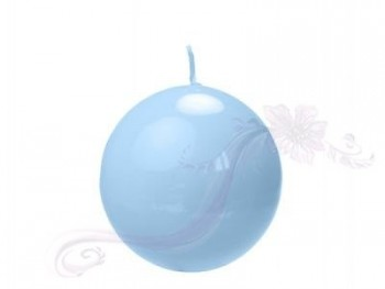 """Svíčka """"Koule""""  100mm  lakovaná modrá"""