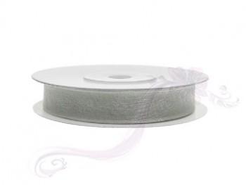 Stuha šifon šedá, šířka 0,6 cm, návin 25 m