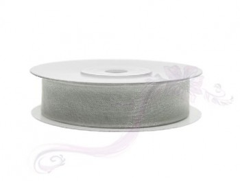 Stuha šifon šedá, šířka 1,2 cm, návin 25 m