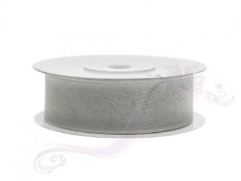 Stuha šifon šedá, šířka 1,9 cm, návin 25 m