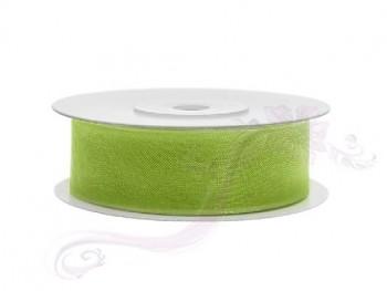 Stuha šifon zelené jablko, šířka 1,9 cm , návin 25 m