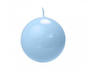 """Svíčka """"Koule""""  60mm  lakovaná modrá"""