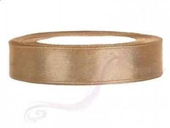 Saténová stuha světlá zlatá, 12mm/25m