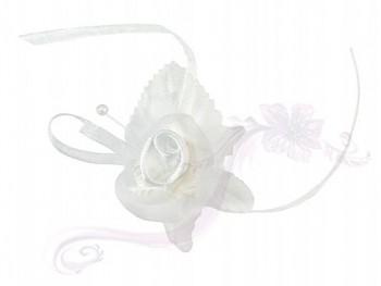 Svatební vývazky bílý květ