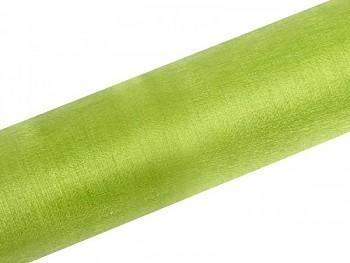 Organza sněžná zelená, 16cm/9m