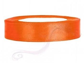 Saténová stuha oranžová, 12mm/25m