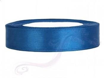 Saténová stuha  modrá, 12mm/25m