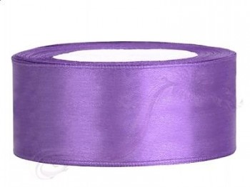 Saténová stuha lila, 25mm/25m
