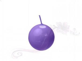 """Svíčka """"Koule""""  45mm  lakovaná fialová"""