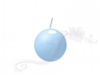 """Svíčka """"Koule""""  45mm  lakovaná modrá"""