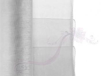 Organza obšitá stříbrná, 38cm/9m