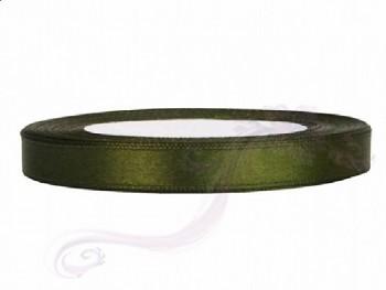 Saténová stuha, lahvově  zelená, 12mm/25m