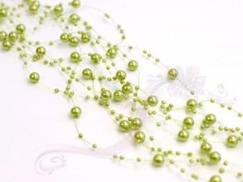 Girlanda perlová, světle olivová