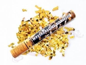 Konfety vystřelovací , zlaté metalické, 40cm