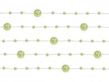 Girlanda perlová,  sv.zelená