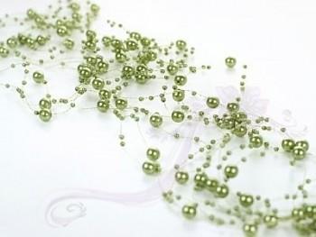 Girlanda perlová,  tmavě zelená