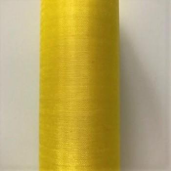 Organza hladká citrónová, 16cm/9m