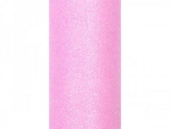 Tyl s lurexem, sv. růžový, 15cm/9m