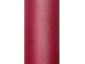 Tyl v roli bordó 15 cm x 9 m - 731191170