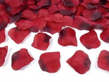 Plátky růží  červené s bordó, 100ks v balení