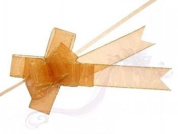 Stahovací stuha zlatá, 3,75x68cm